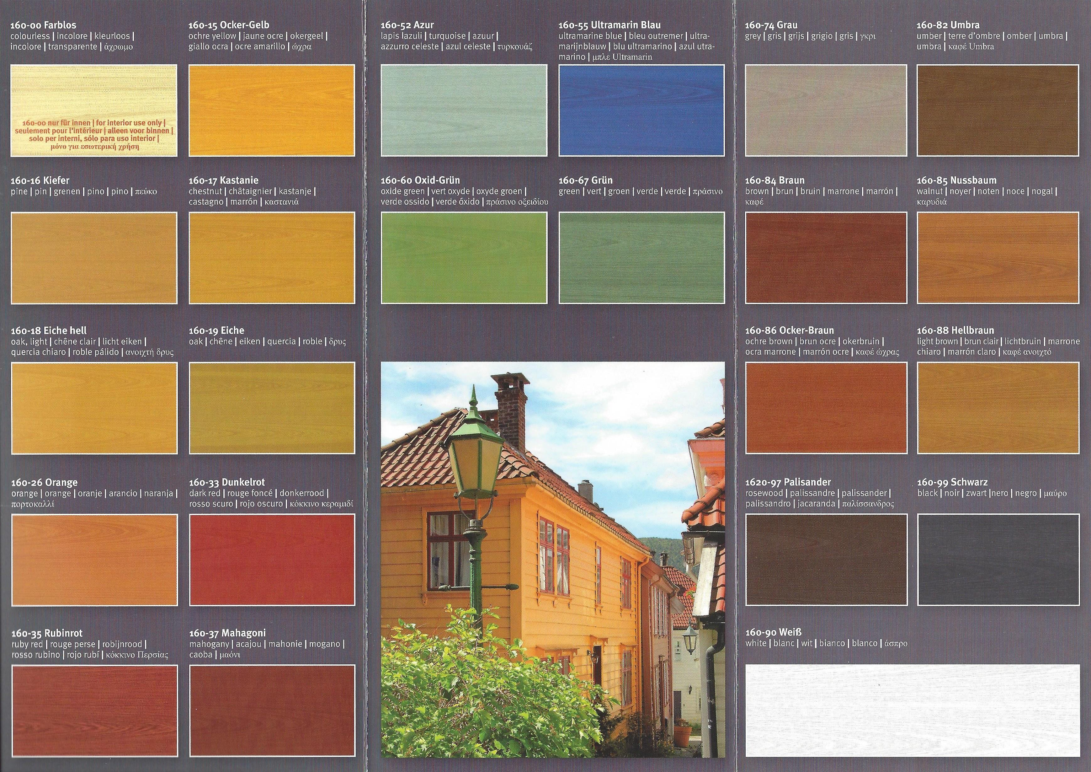 Wandfarbe farbig test